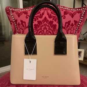 Ted Baker Double Pocket Tall Handle Tote